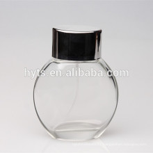 round shape recycled glass spray pump perfume bottle