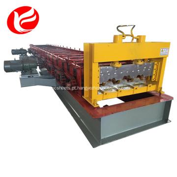 Plataforma de piso de aço de metal deck de piso rolo dá forma à máquina