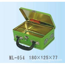tin gift box with a handle