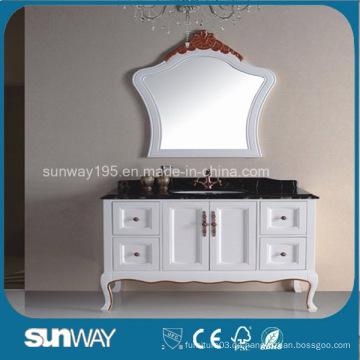 Europe Style Antique Badezimmer Schrank mit Marmor Top (SW-8014B)