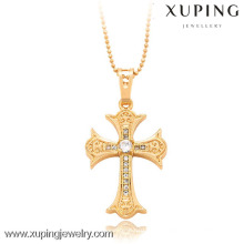 32284-Xuping Fine Jewelry Style pendentif croix avec plaqué or 18 carats