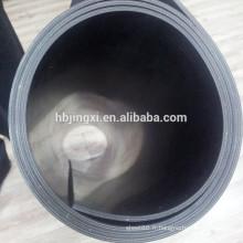 Feuille en caoutchouc insérée par tissu noir, feuille de SBR avec le tissu inséré