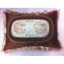 Mão Knit Crochet Velvet Lace Tringe Trimmed Almofada Covers