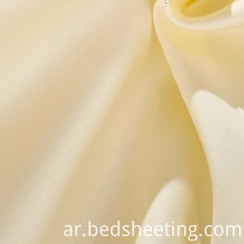 Organic Sateen Fabric Beige