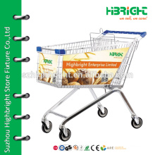 supermarket funky folding lightweight shopping trolley with coin locks