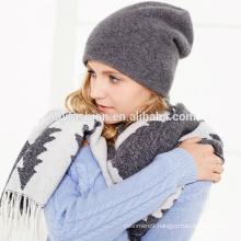 Womens cashmere classic solid color plain knitted beanie hat wholesale 2017