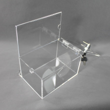 Custom Acrylic Display Storage Coin box with lock