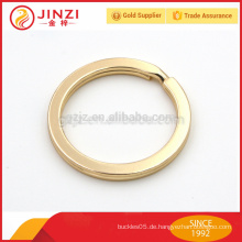Goldfarbe 1 Zoll flache Art Eisen Schlüsselring