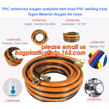 PVC reinforced oxygen acetylene twin hose PVC welding hose Tygon Material Oxygen Air Hose