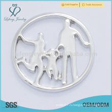 2015 топ продажи счастливый семья окно серебряный медальон тарелки горячие продажи