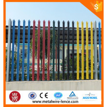 2016 hot sale wholesale galvanized steel fence, euro fence, palisade fence