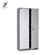 barato armário de armário de aço de duas portas de balanço com prateleiras