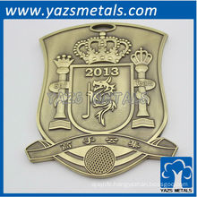 Custom 3d brass badges