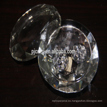 joyero de cristal, caja de diamantes de cristal