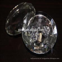 caixa de jóias de cristal, caixa de diamante de cristal