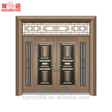New wrought iron steel entry door front door custom metal exterior door