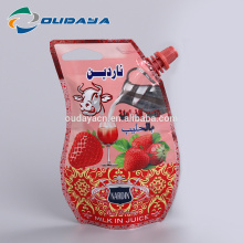 Flexible Plastic Customized Printing Shaped Juice Pouch