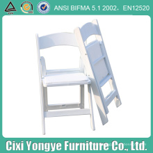 Chaise pliante blanche empilable de résine pour des banquets
