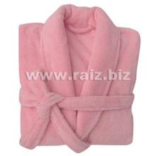 Коралловый флисовый женский халат на зиму