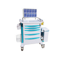 Medical Trolleys With 5 Drawer , Hospital / Home Use Rescue Cart