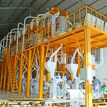 Maismehl-Mahlanlage mit Stahlkonstruktion