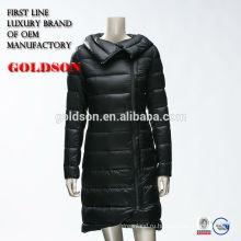 Черный Легкий Вес Женщин Вниз Пальто Мягкой Ткани