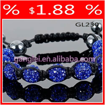pulseira shamballa azul