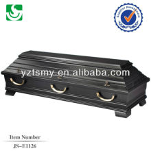 boîte de cercueil de peuplier massif vente chaude