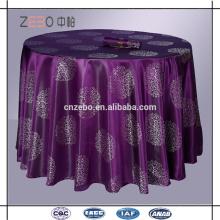 High Grade Jacquard-Gewebe Custom Farbe Restaurant Tisch Kleidung in Guangzhou