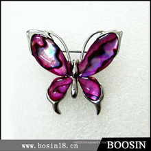 Purple Butterfly Rhinestone Brooch in Alloy Material #5251