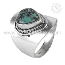 Cerulean tempting 925 sterling silver ring turquoise gemstone ring silver jewellery wholesaler