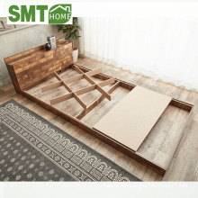 Latest modern designs wooden bed with socket Japan