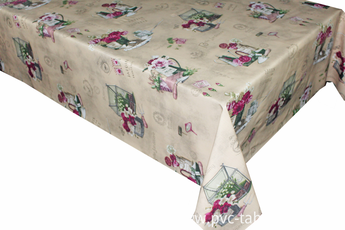 Vinyl table cloth