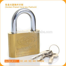 Cheap Golden Plated Vane Key Iron Padlock