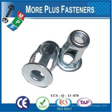 Made in Taiwan Messing Material oder Stahl Jack Nut Gewindeeinsätze Pop Jack Nut