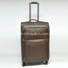 PU Chequer Soft Luggage Set