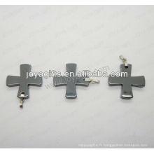 01P1007S / croix en forme de pendentif / croix / attache croisée / accessoire croisé avec découverte en argent