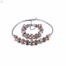 Custom Cheap China Factory Stainless Steel Charm Bracelets Necklaces Jewelry Sets