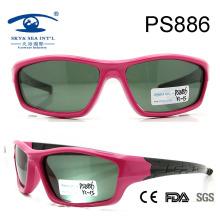Fashion Design Sports Rubber Sunglasses for Kids, Polarized Baby Sunglasses (PS886)