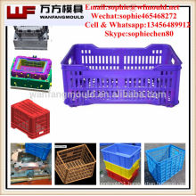 OEM Custom plastic injection stackable basket rack mould/stackable basket rack mold made in China