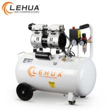 50 litros 0.75hp 2 cilindros óleo livre popular compressor de ar branco