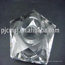 Candelero cristalino perfecto de la flor de loto de la nueva llegada