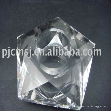 Nova chegada perfeito cristal flor de lótus vela titular