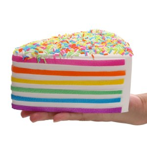 Squishy Cake Rainbow Jumbo Slow Rising Cheese