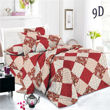 Polyester Checked Plain Pigment Printed Woven Bed Sheets