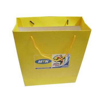 Bolso de compras de papel personalizado con la manija para el embalaje (SW109)