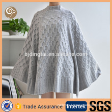 Women fashion wholesale cashmere poncho