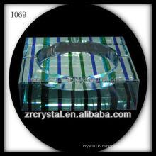 K9 Color Printed Crystal Ashtray