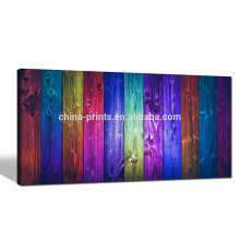 Vintage Wood Colorful Giclee Print/Contemporary Wall Art for Living Room/Abstract Pop Canvas Art