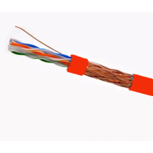 SFTP CAT6 LSZH Câble Fluke Testé Soild Nare Copper Rouge